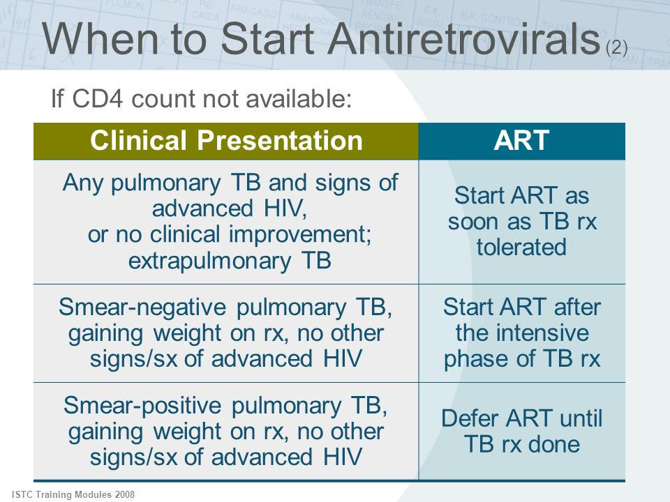 When to Start Antiretrovirals (2)