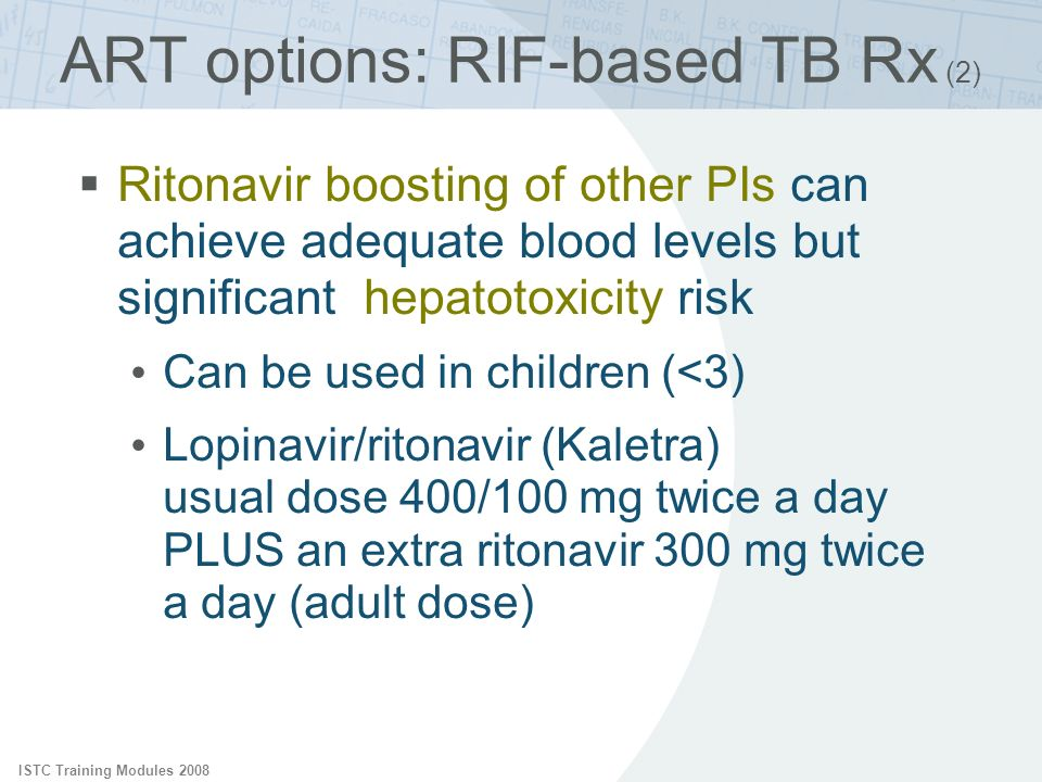 ART options: RIF-based TB Rx (2)