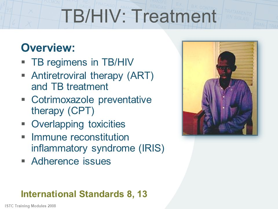 TB/HIV: Treatment Overview: TB regimens in TB/HIV