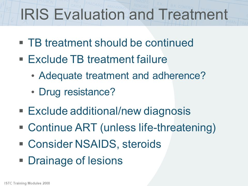 IRIS Evaluation and Treatment