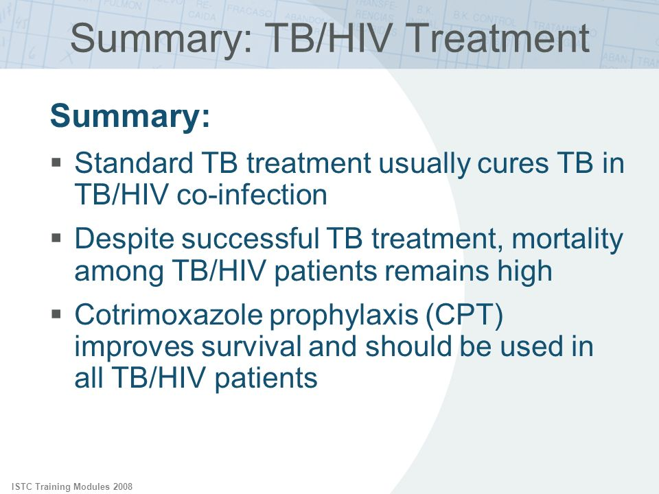 Summary: TB/HIV Treatment