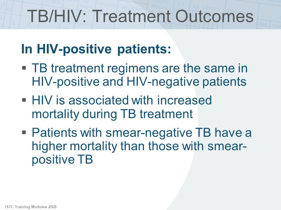 TB/HIV: Treatment Outcomes