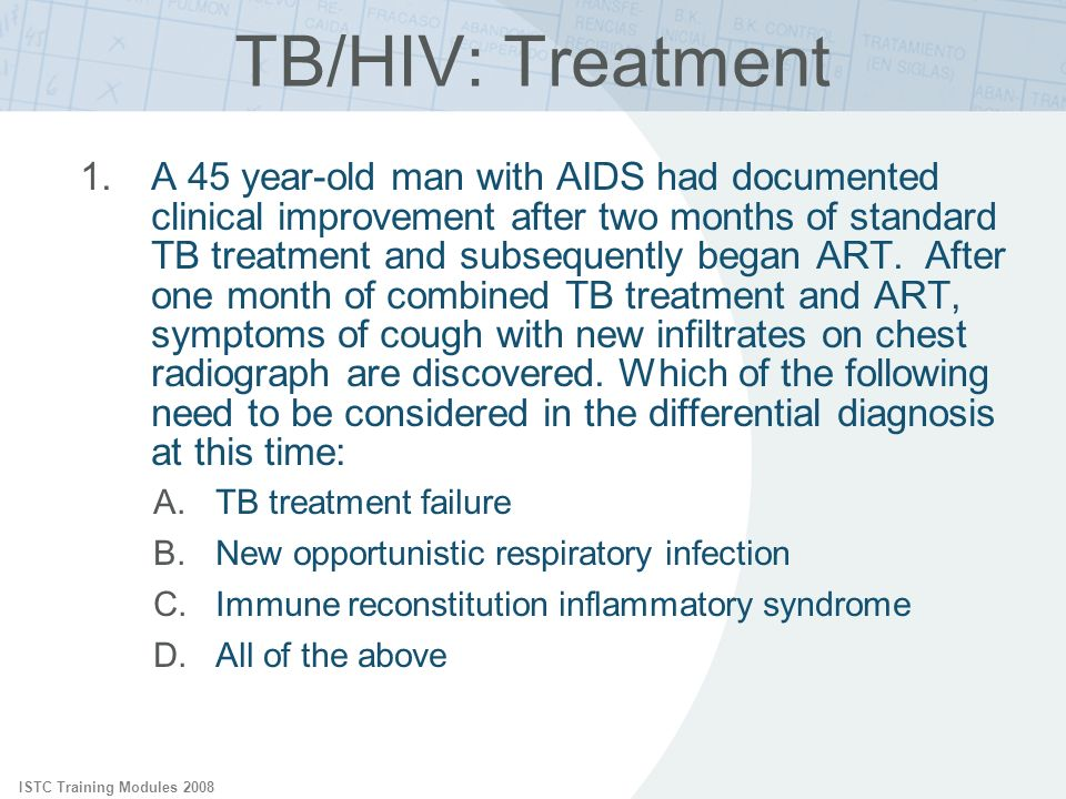TB/HIV: Treatment