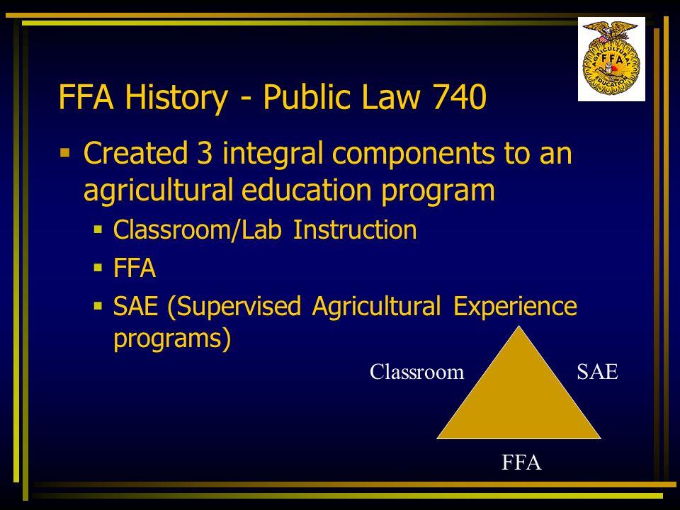 FFA History - Public Law 740