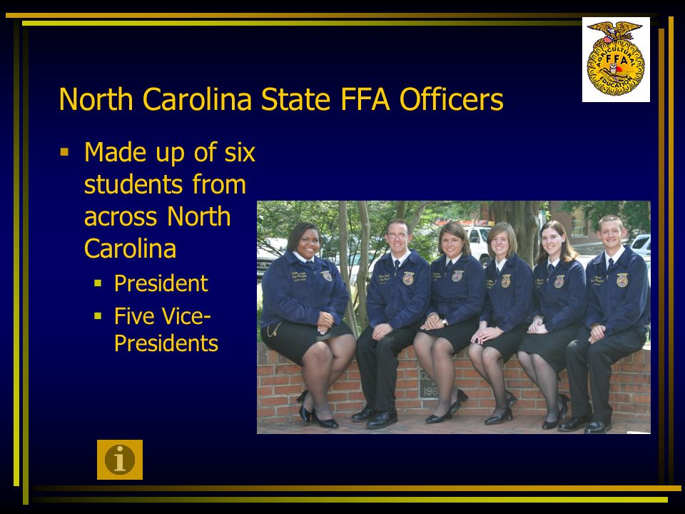 North Carolina State FFA Officers
