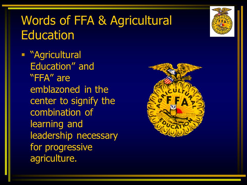 Words of FFA & Agricultural Education