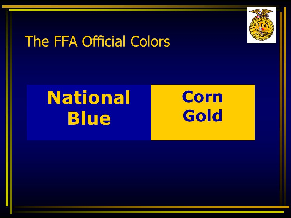 The FFA Official Colors