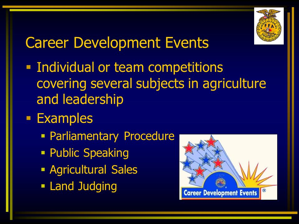 Career Development Events