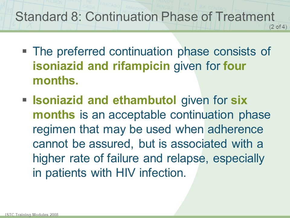 Standard 8: Continuation Phase of Treatment