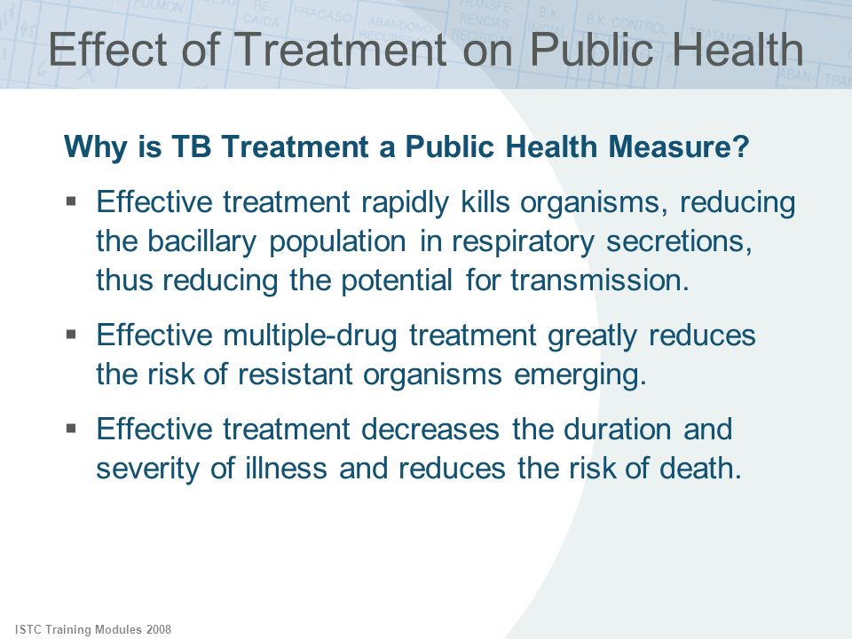 Effect of Treatment on Public Health