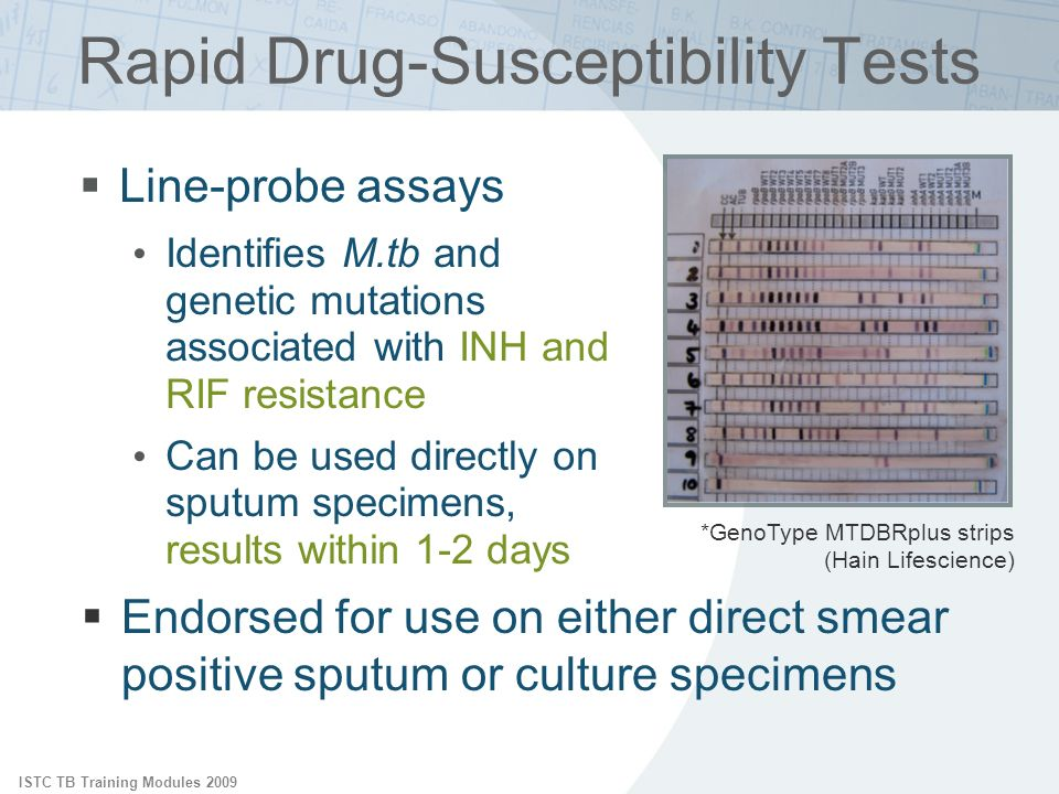 Rapid Drug-Susceptibility Tests