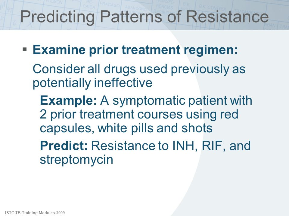 Predicting Patterns of Resistance