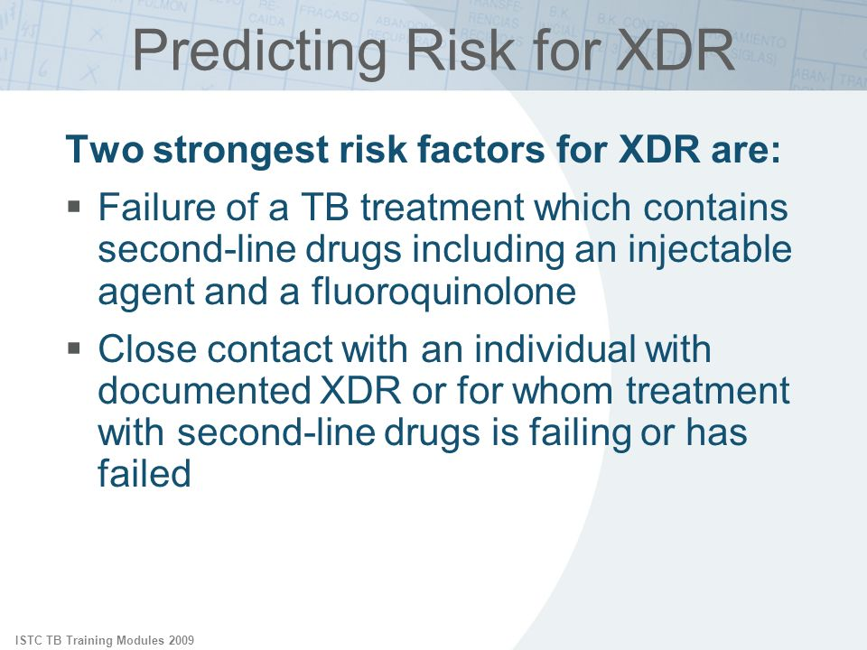 Predicting Risk for XDR