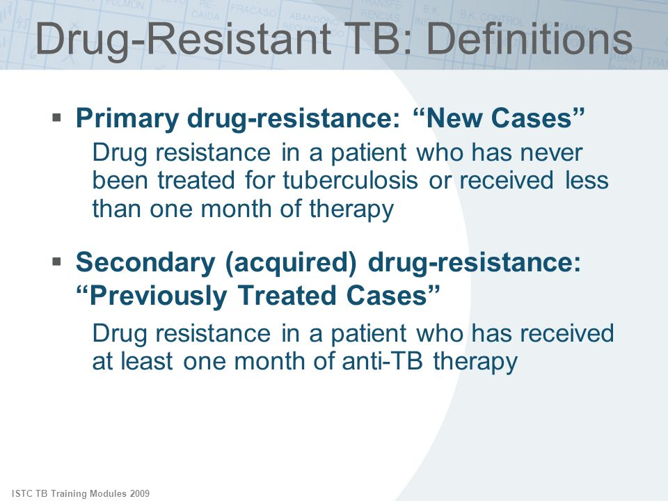 Drug-Resistant TB: Definitions