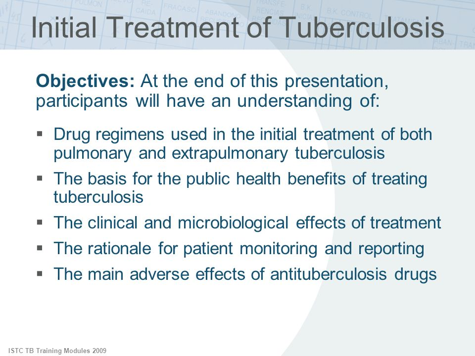 Initial Treatment of Tuberculosis