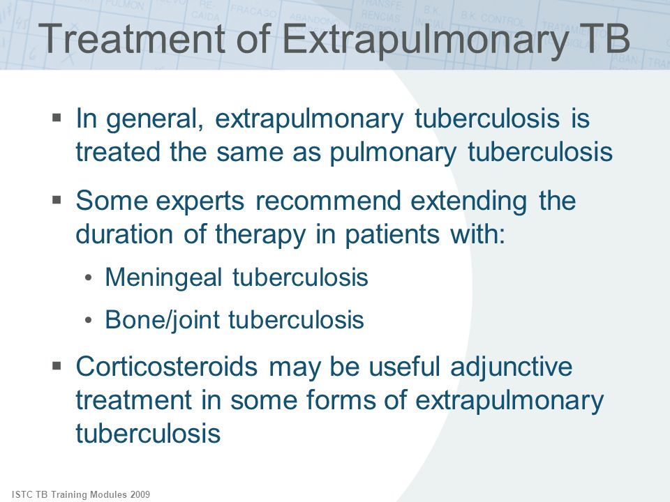 Treatment of Extrapulmonary TB