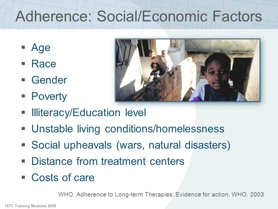 Adherence: Social/Economic Factors
