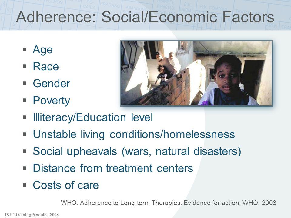 Adherence: Social/Economic Factors