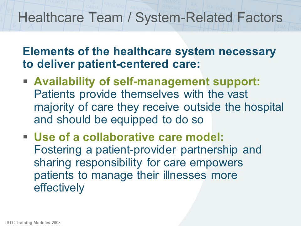 Healthcare Team / System-Related Factors