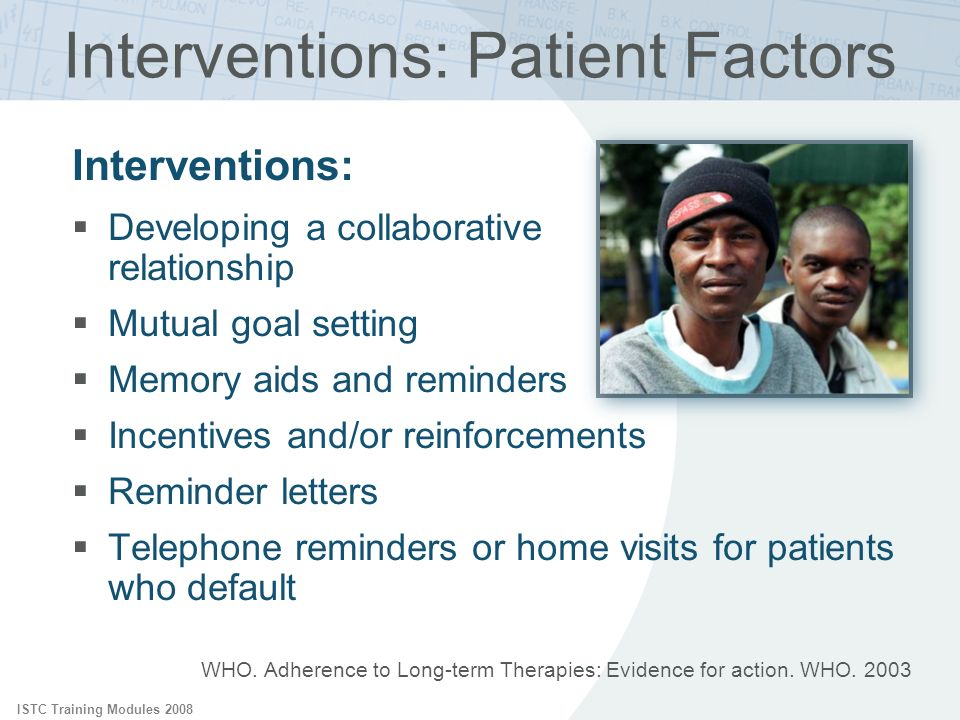 Interventions: Patient Factors