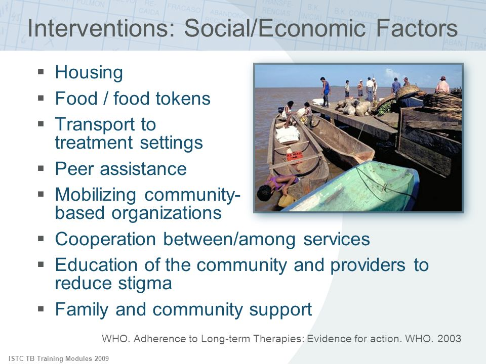 Interventions: Social/Economic Factors