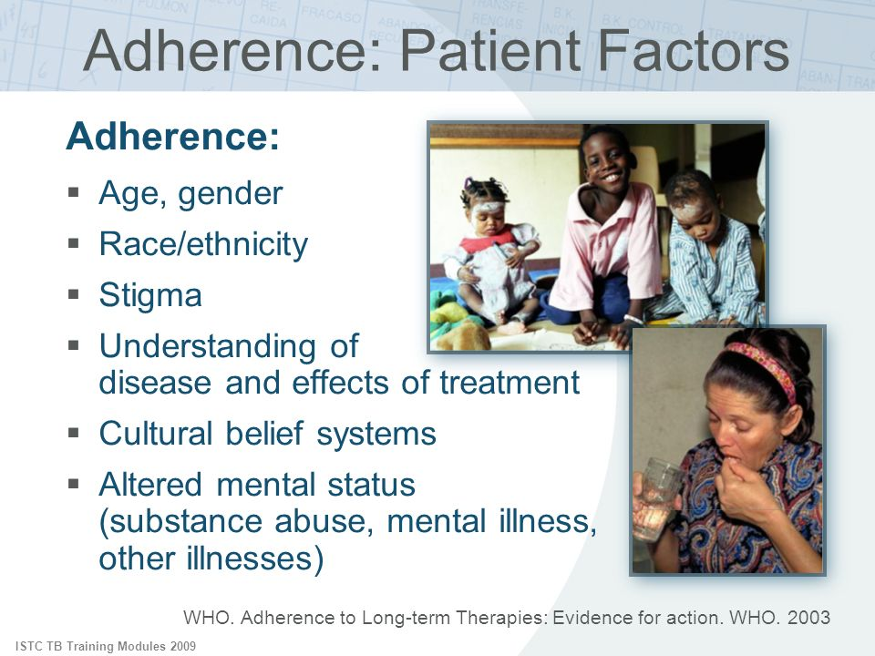 Adherence: Patient Factors