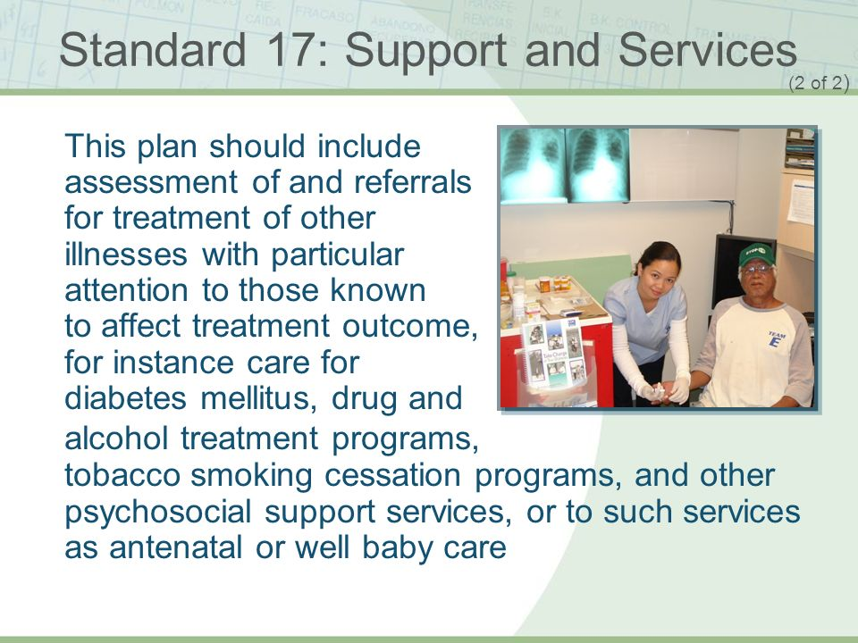 Standard 17: Support and Services