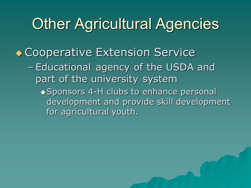 Other Agricultural Agencies