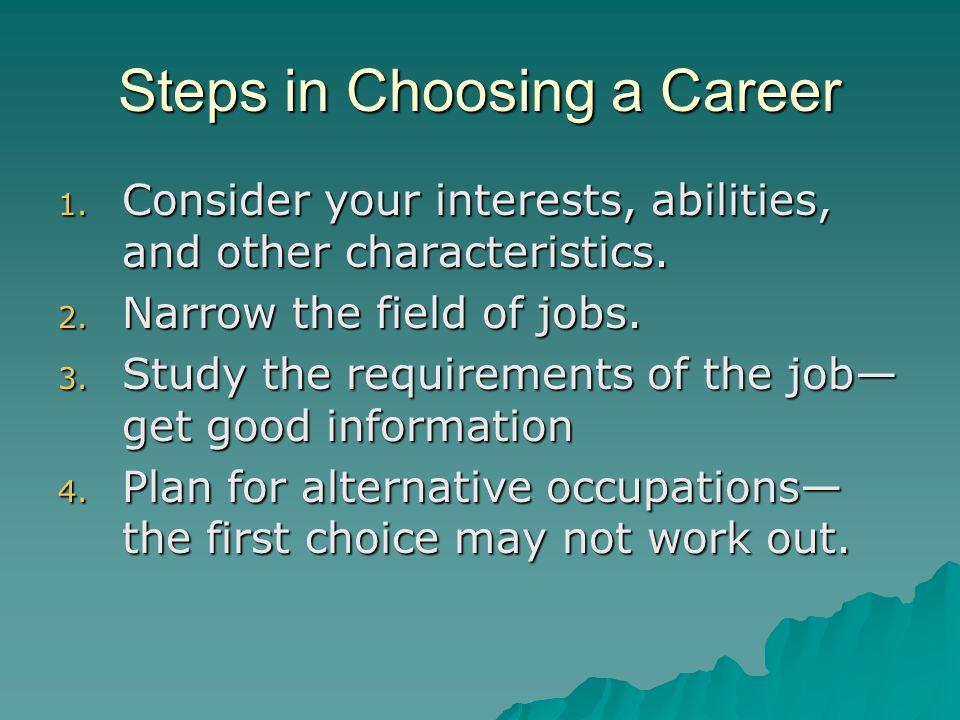 Steps in Choosing a Career