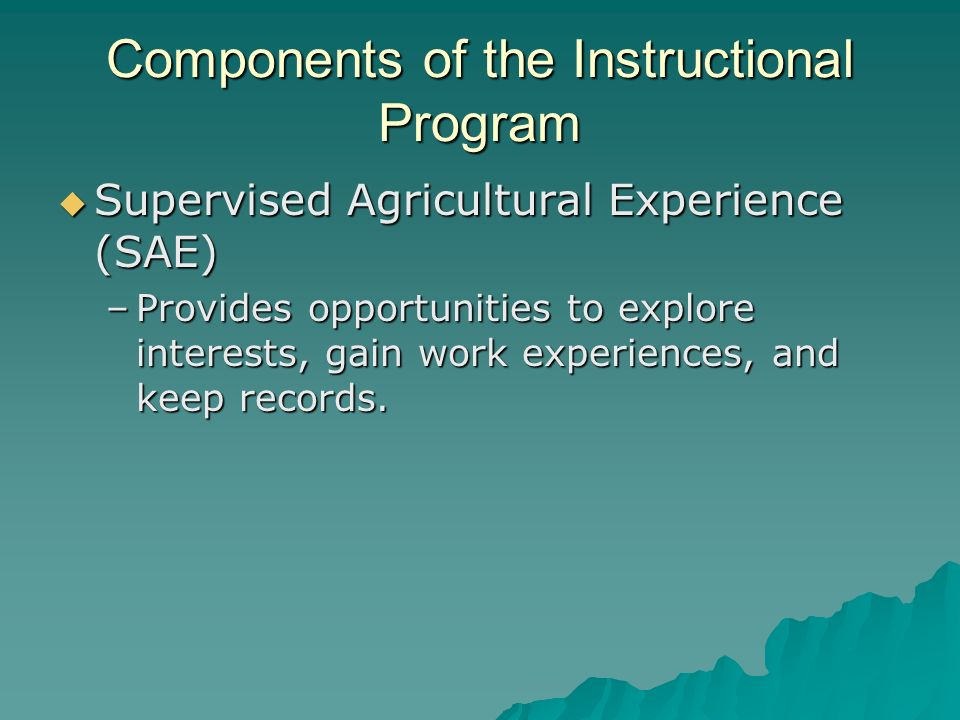 Components of the Instructional Program