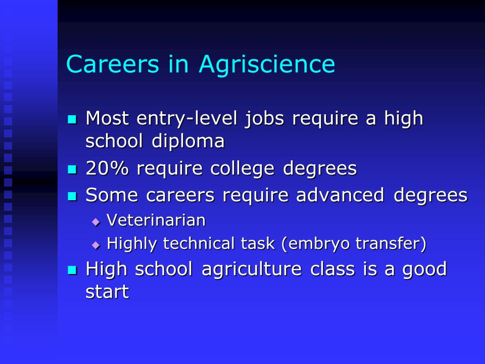 Careers in Agriscience