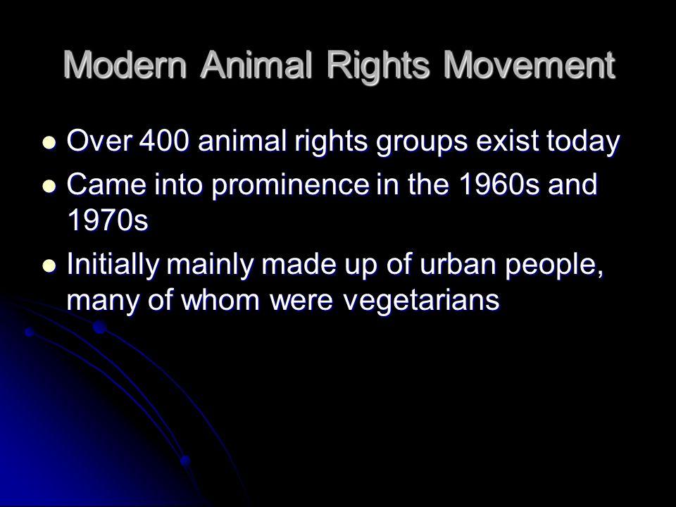 Modern Animal Rights Movement