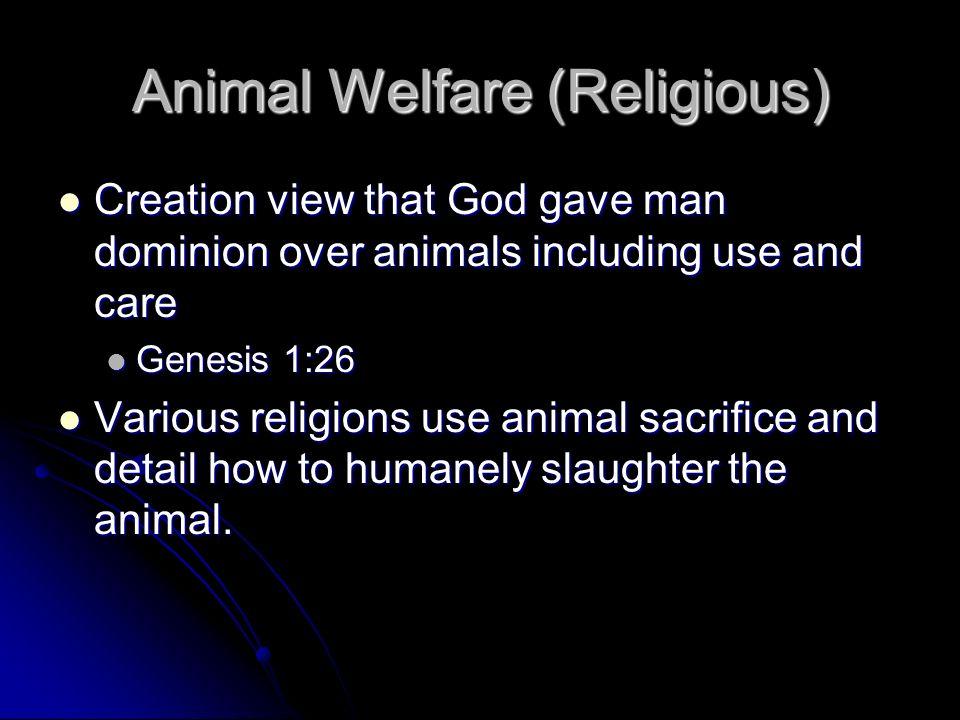 Animal Welfare (Religious)