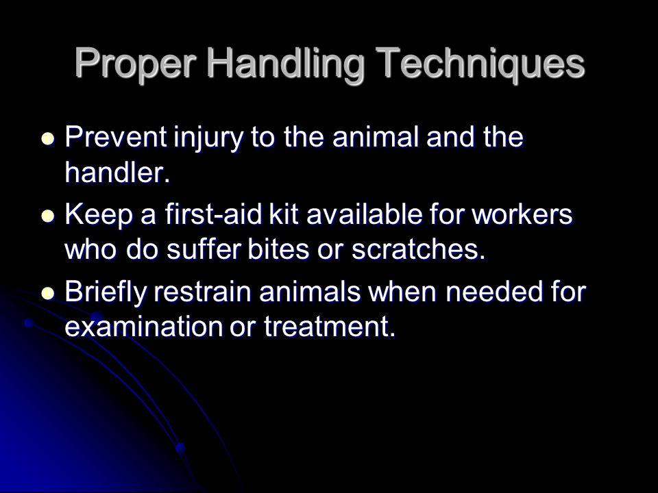 Proper Handling Techniques