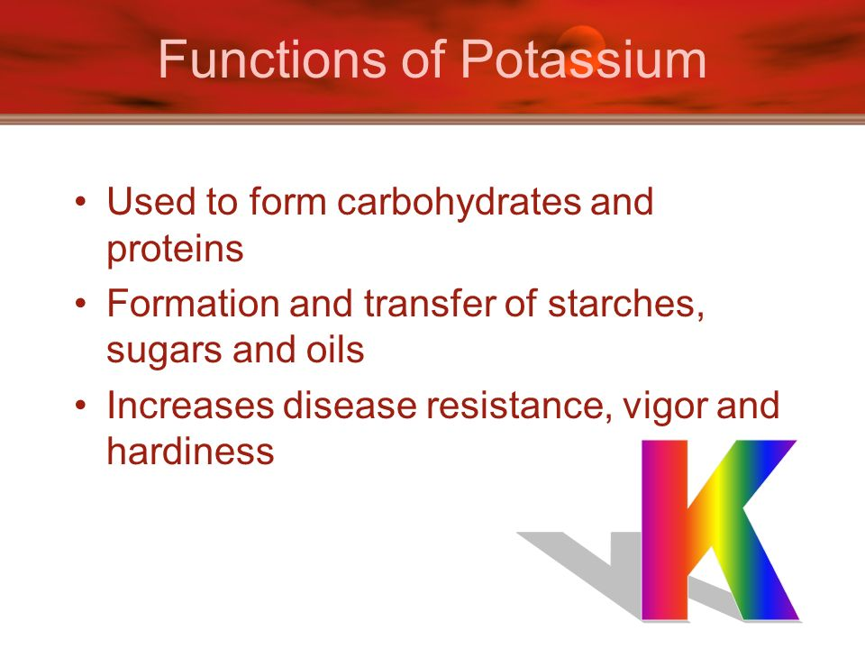 Functions of Potassium