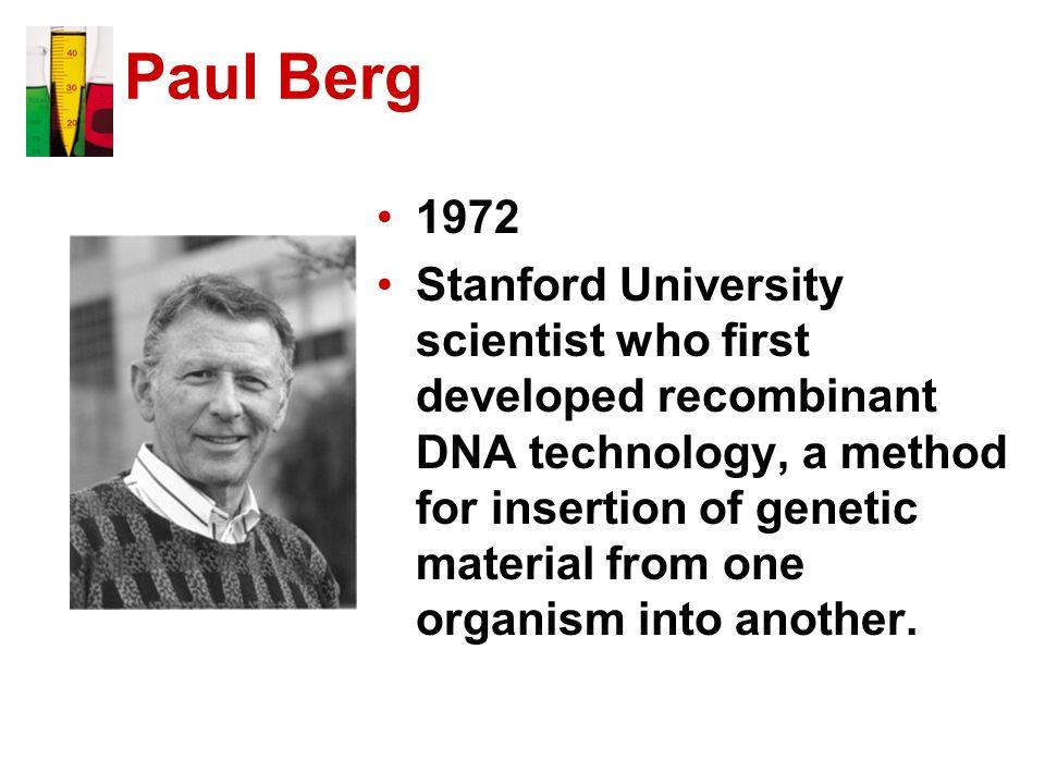 Paul Berg 1972.