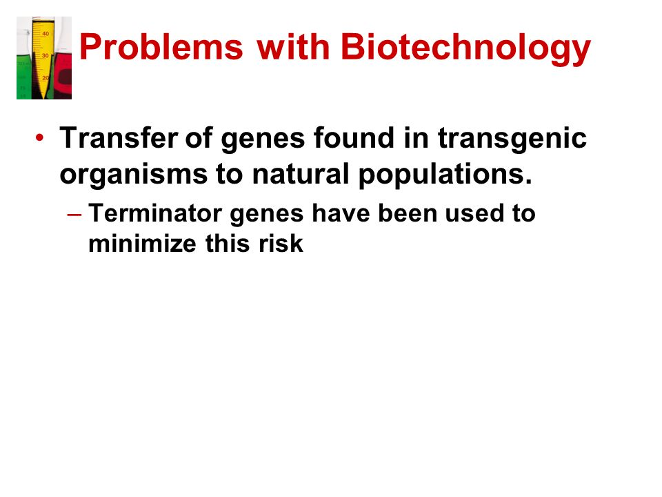 Problems with Biotechnology