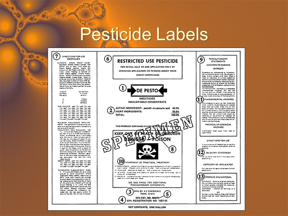 Pesticide Labels