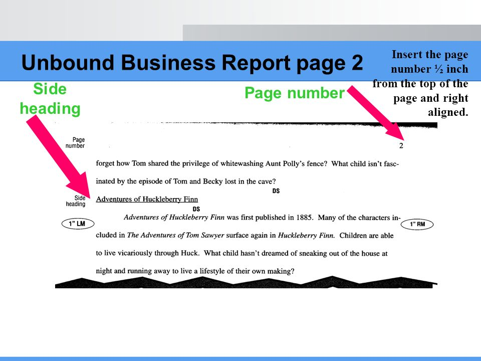Unbound Business Report page 2