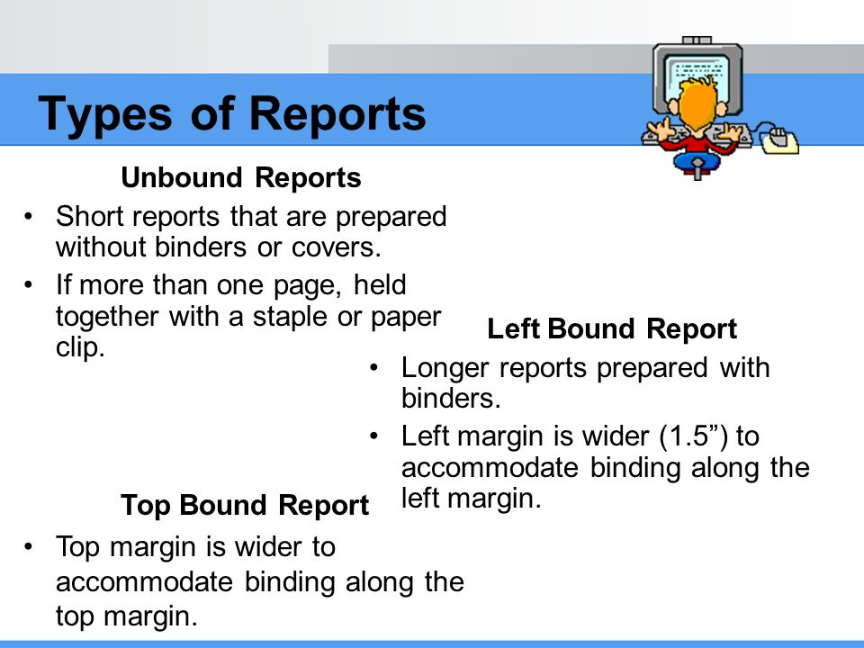 left bound business report format