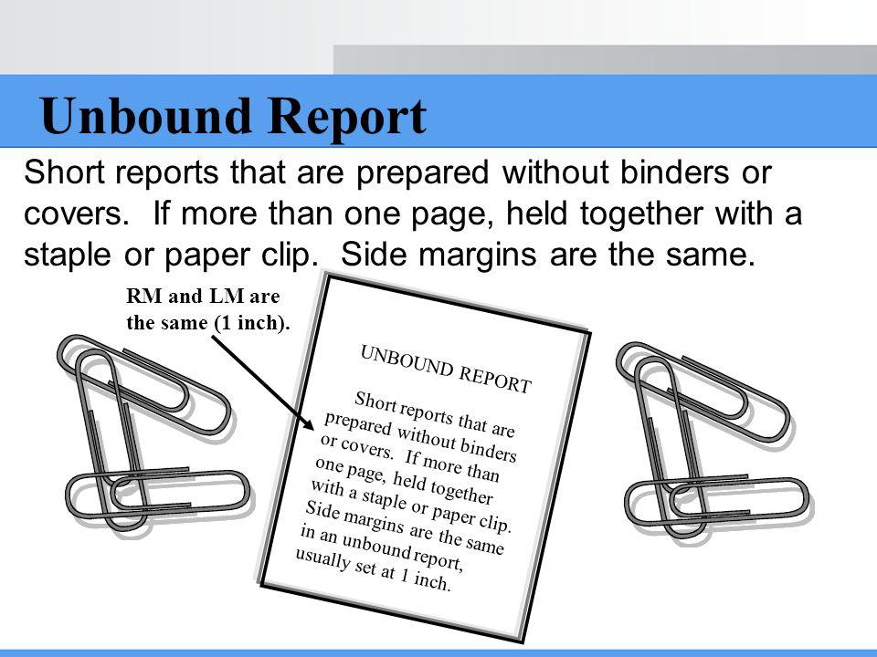 Unbound Report