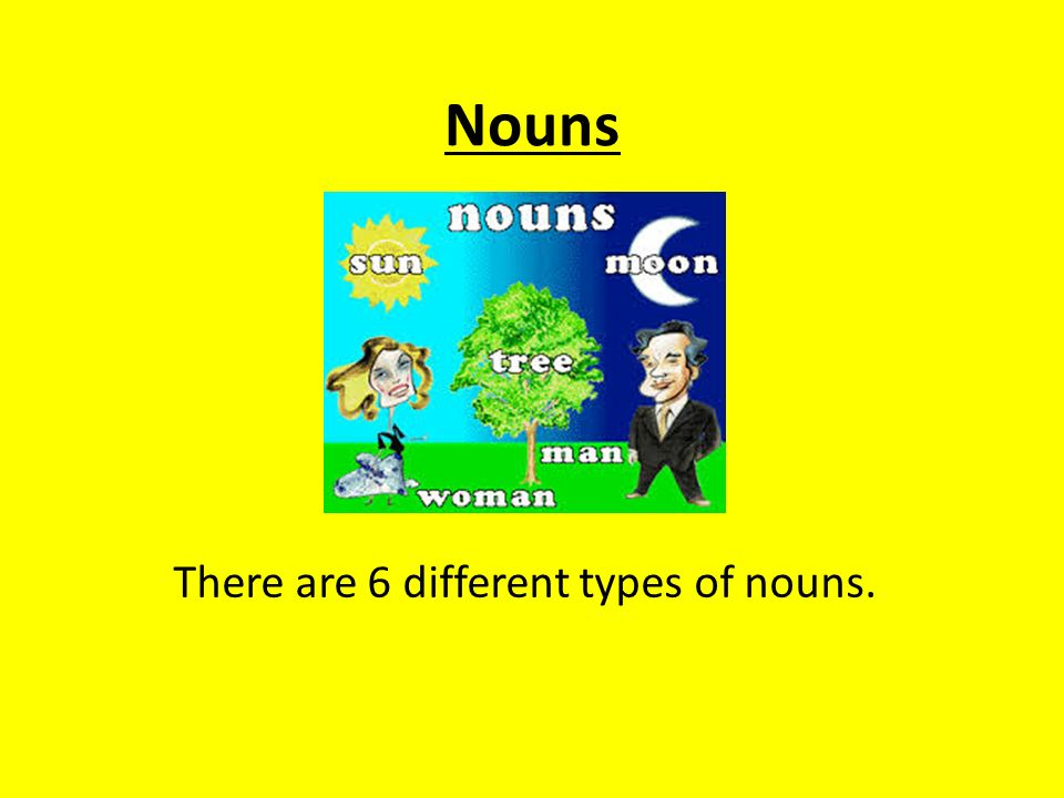 There are 6 different types of nouns.