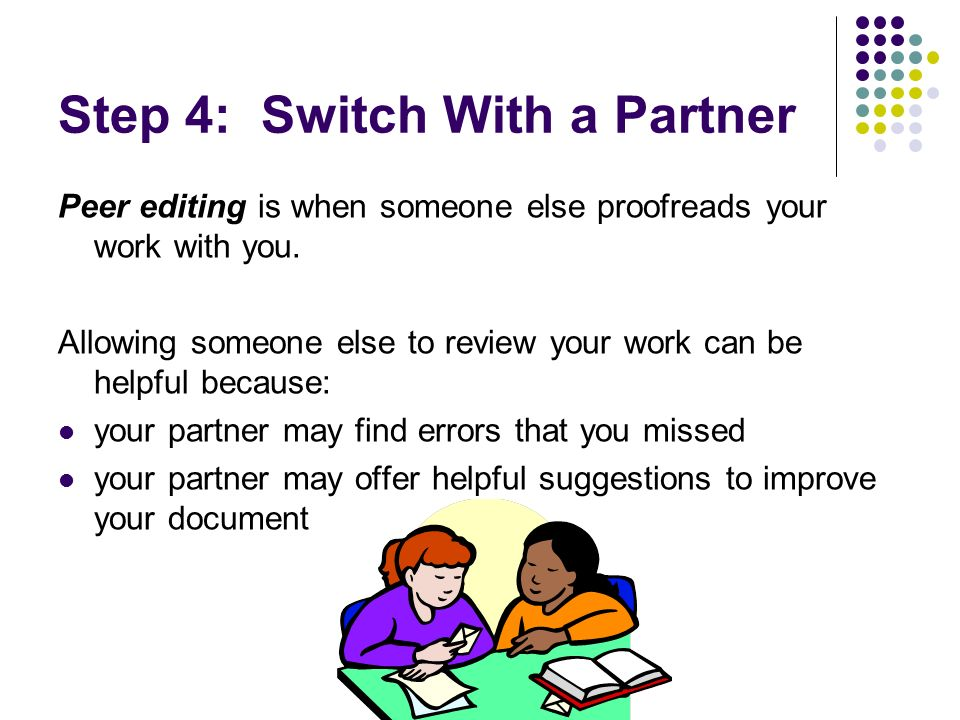 Step 4: Switch With a Partner