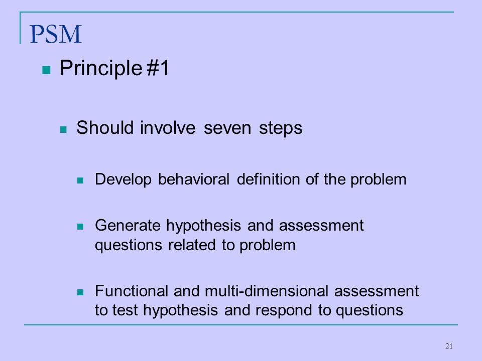 PSM Principle #1 Should involve seven steps