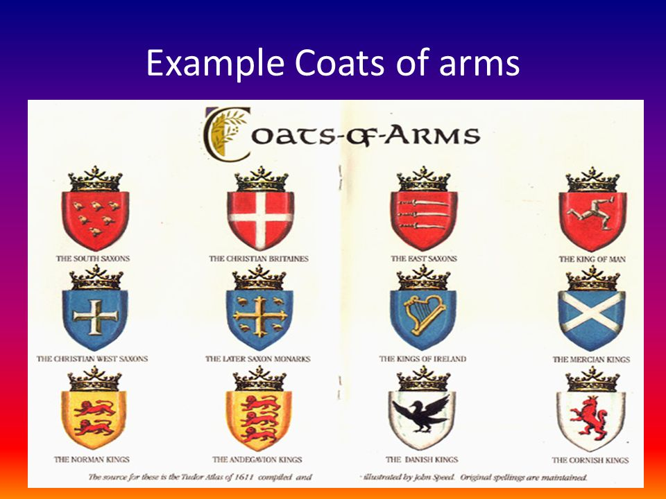 Example Coats of arms