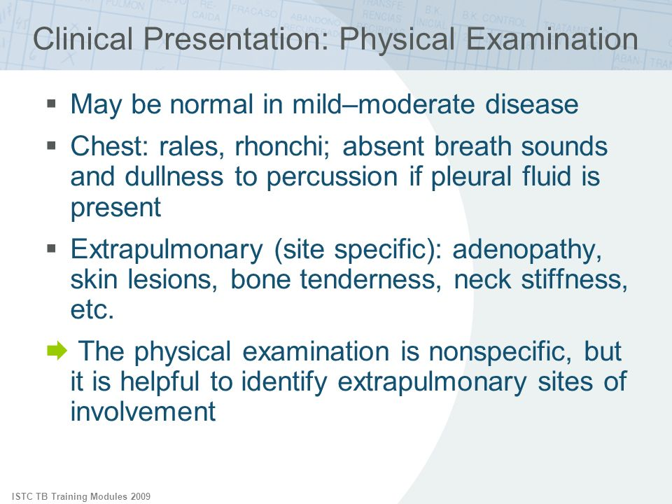 Clinical Presentation: Physical Examination