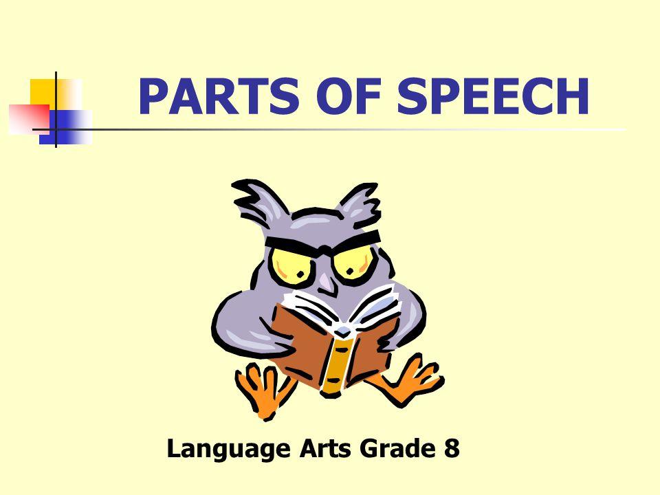 PARTS OF SPEECH Language Arts Grade 8