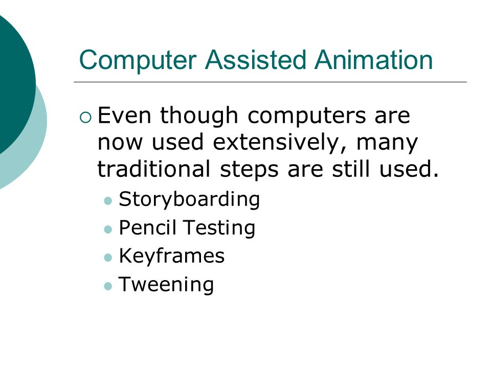 Computer Assisted Animation