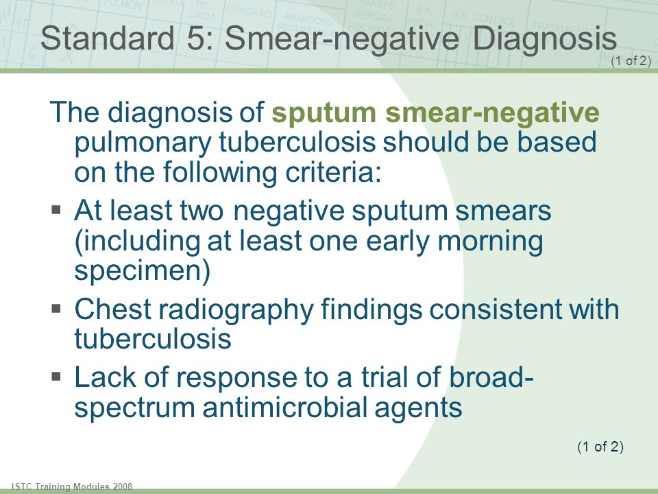 Standard 5: Smear-negative Diagnosis