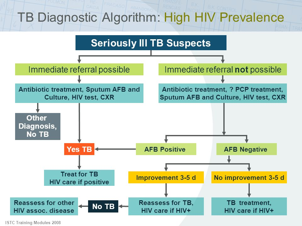 TB Diagnostic Algorithm: High HIV Prevalence